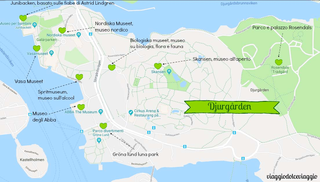 djugarden Stoccolma Stockholm map