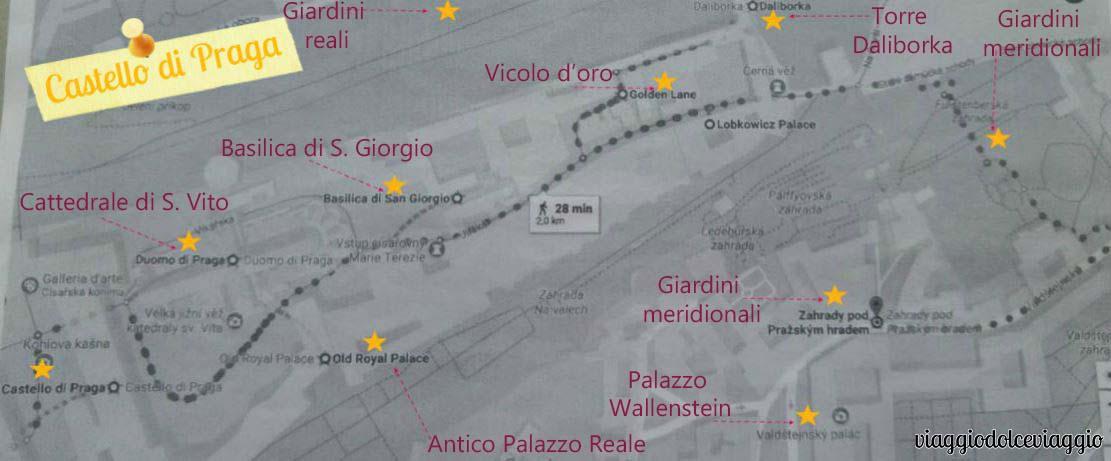 itinerario-castello-hradcany praga map