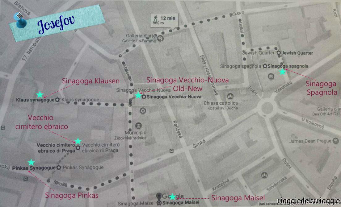itinerario-josefovpraga map