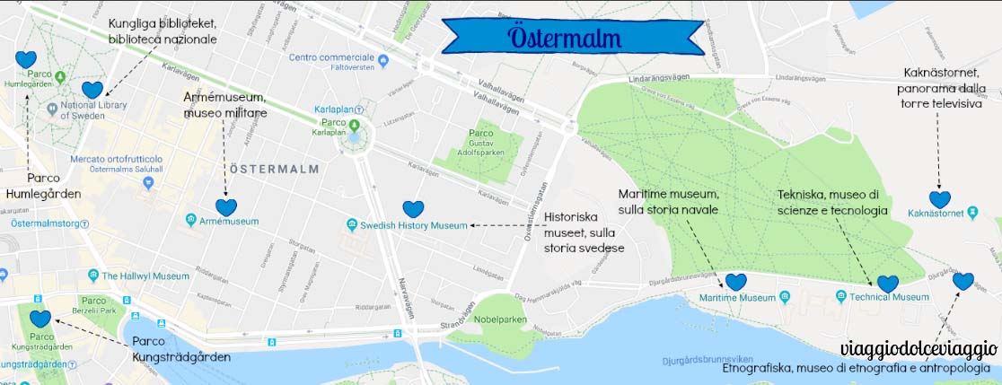 ostermalm Stoccolma Stockholm map