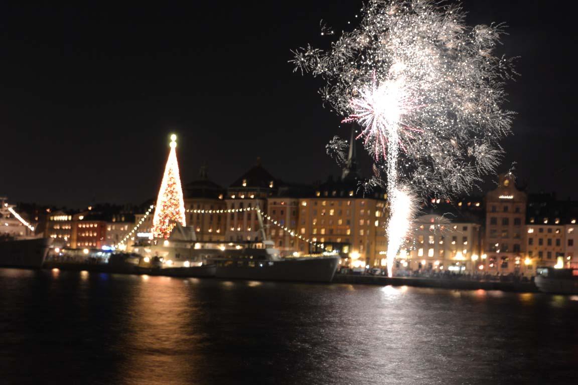 fuochi d'arfificio capodanno Stoccolma Stockholm