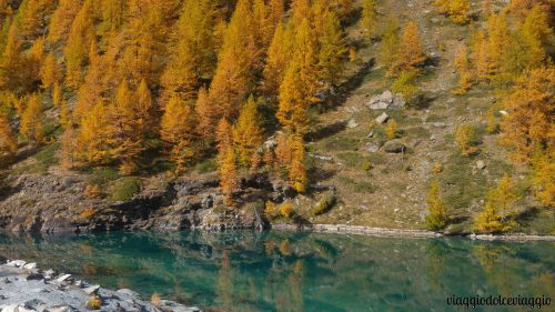 Lago blu valle d'aosta