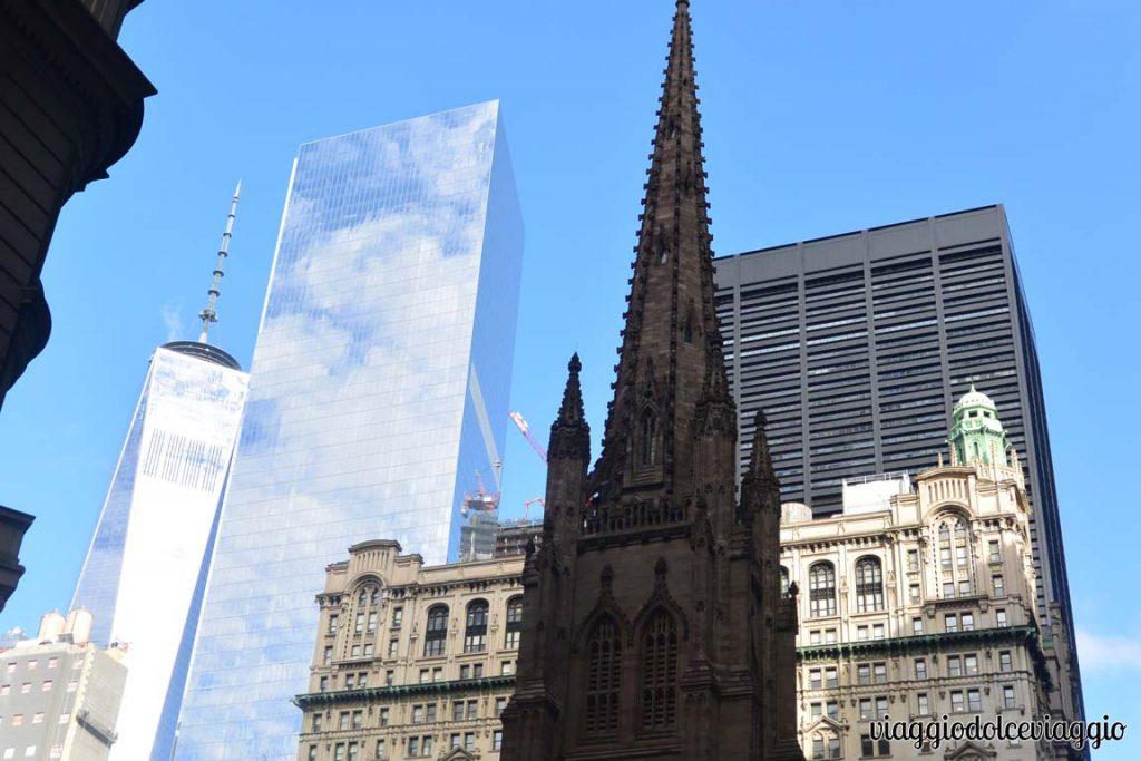 Wall Street New York Trinity church