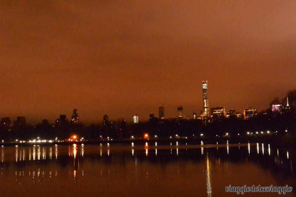 Central park new york di sera
