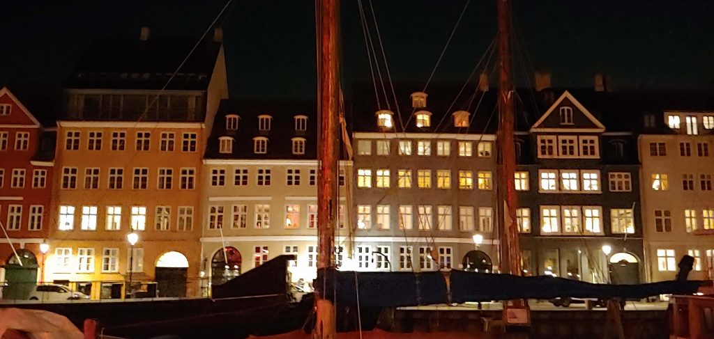 Copenhagen Nyhavn by night