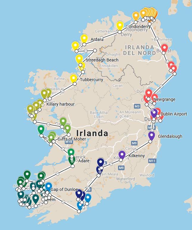 Preparare l'itinerario per visitare l'Irloanda in 2 settimane