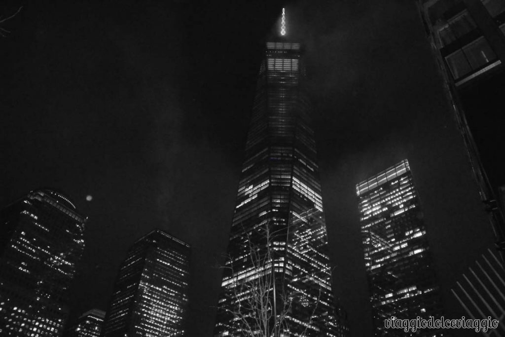 New York, Freedom tower di sera
